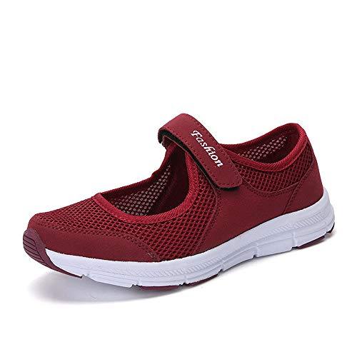 BaZhaHei Damen Outdoor Damenschuhe Mode Sneakers Canvas Sport Slipper lässige Turnschuhe Feste Flache Liebhaber Schuhe Sportschuhe Air leicht Walkingschuhe Running Turnschuhe Net Slingback