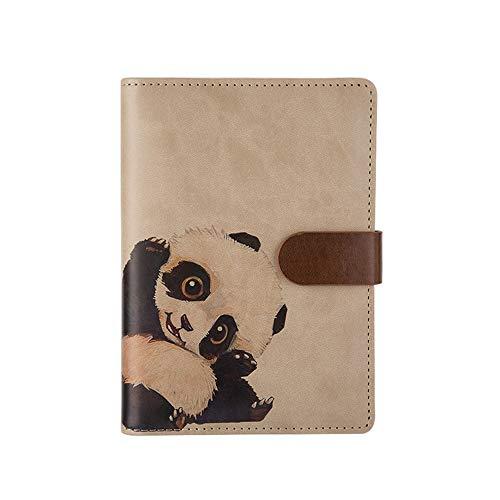 auen nachfüllbare Notebook Ring Binder Style Tagebücher, Tagebücher & Notizbücher lose Blatt Binder Notizblock - Visitenkartenhalter und Stifthalter A6 Panda ()