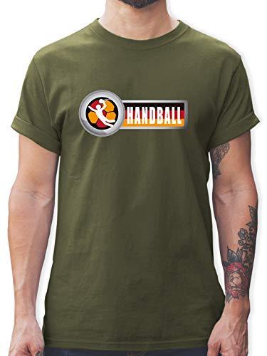 Handball WM 2019 - Handball Deutschland 2 - XXL - Army Grün - L190 - Tshirt Herren und Männer T-Shirts