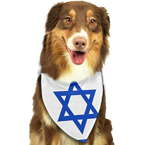 Rghkjlp Dogs Bandana Collars Flag of Israel Pets Triangle Neckerchief Puppy Bibs Scarfs Cats Scarfs Towel