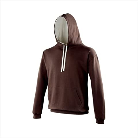 AWD - Sweat-shirt à capuche - - Teddy - Uni - Manches longues Homme Marron Hot Chocolate hoodie with contrasting Cream - Beige - Hot Chocolate hoodie with contrasting Cream - Large