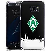 Samsung Galaxy S7 Edge Silikon Hülle Case Schutzhülle Werder Bremen Skyline Fanartikel
