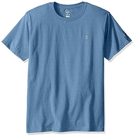 Champion Men`s Classic Jersey Tee, XL, Swiss Blue
