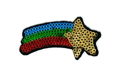 Rainbow Cartoon bestickt Nähen Eisen auf Patch Cartoon Nähen Eisen auf bestickte Applikation Craft handgefertigt Baby Kid Girl Frauen Tücher DIY Kostüm Zubehör ()