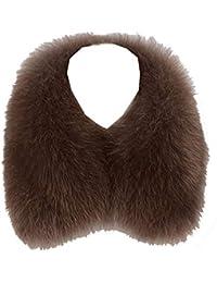 Ysting Volpe Pelliccia Sciarpa - Inverno Uomo Vera Pelliccia Fazzoletto da  Collo Donna Scialle Comodo Elegante de3e13e6b0a