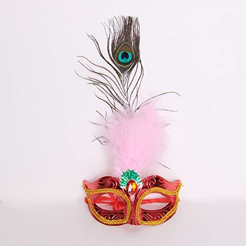 YMXLJJ Feder Maske Lady Adult Half Face Party Maske Venedig Prinzessin Masquerade Sexy ()