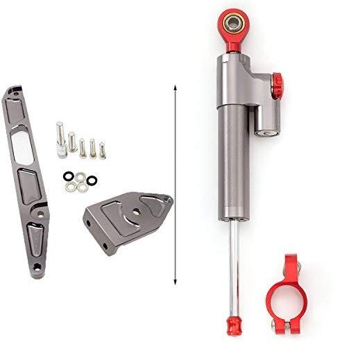 Motorrad Lenkung Dämpfer Stabilisator Halterung Montage Für KAWASAKI Z1000 Z750 2003-2009 Aluminium Gray&Red