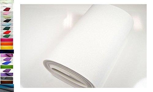 StoffBook STABILER BASTELFILZ TASCHENFILZ STOFF CA. 5MM STOFFE, B527 (Weiß)