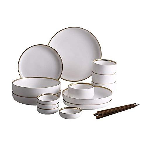 KXBYMX Schüssel Keramikschale Deep Dish Müsli, Misosuppe, EIS, Dessert, Chip Dip, Mischen und Eintauchen Geschirr (Color : White) - Erfrierungen Eis