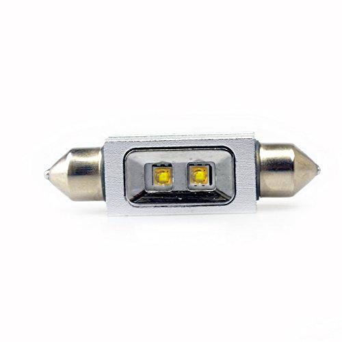 Lumiplux Feston C5W 42mm 12V 24V Blanc LED Ampoule de Voiture 2X5W Haute Puissance Puce (Pack de 2)