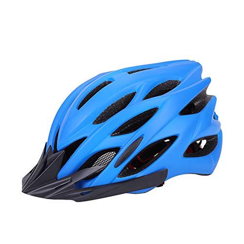 OFAY EIN Erwachsener Fahrradhelm, Leichte PVC-Hülle Verstellbare Beleuchtung Rücklicht Helm, Geeignet Für Rollschuhe Schutzausrüstung Skateboard Elektro-Fahrrad Fahren,Blau