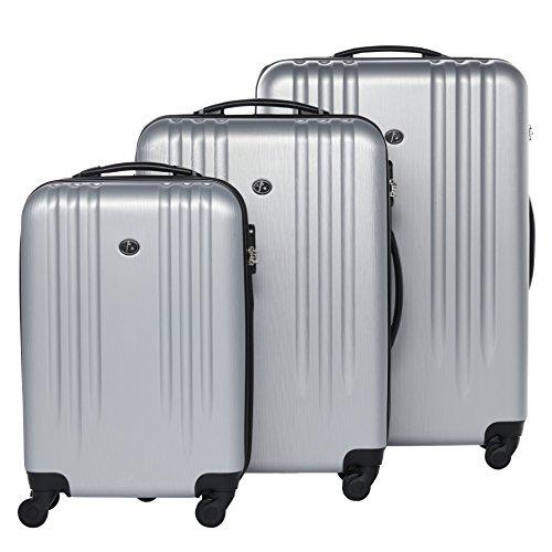 FERGÉ ensemble de valise (set de 3) Marseille - 3 pièces de bagages avec 4 roues 360° - coquille dure & léger en résistant avec serrure à combinaison ...