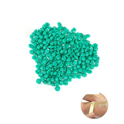 rosenice Haarentfernung Schmerzlos 100g nicht Strips Perle Enthaarungscreme Perle Hartwachsöl (hellgrün)