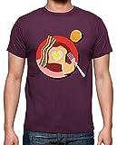 tostadora - T-Shirt Amore la Prima Colazione - Uomo bordò L