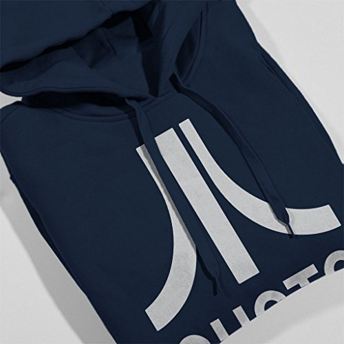 Shoto Atari Logo Ready Player One Men's Hooded Sweatshirt Navy blue