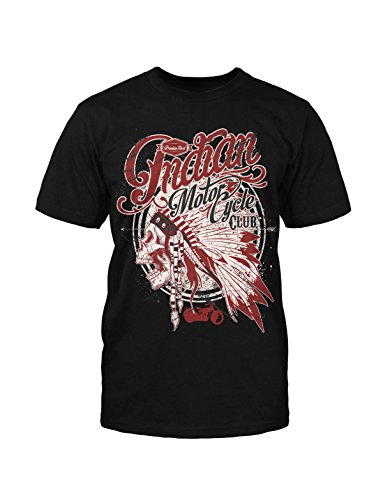 mycultshirt Indian Motorcycle T- Shirt Rocker Biker Club Indianer Kult Retro - Indian Skull T-shirt