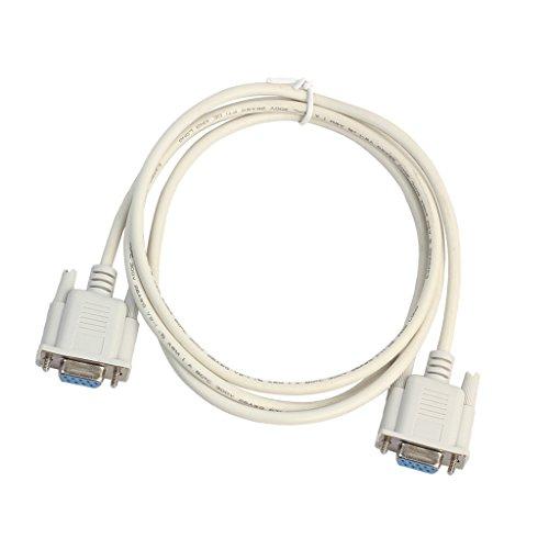 D DOLITY DB9 RS232 Serielle Schnittstelle Weiblich auf Weiblich Serielles Kabel Serielle RS232 Anschlusskabel (1 Stück) - Weiß - 1,5M Hdmi-serielles Kabel