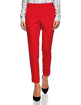 oodji Ultra Mujer Pantalones con Dobladillos y Cintura Elástica