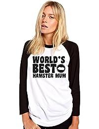 HotScamp World's Best Hamster Mum - Hamster Lover Pet Owner Gift - Womens Baseball Top