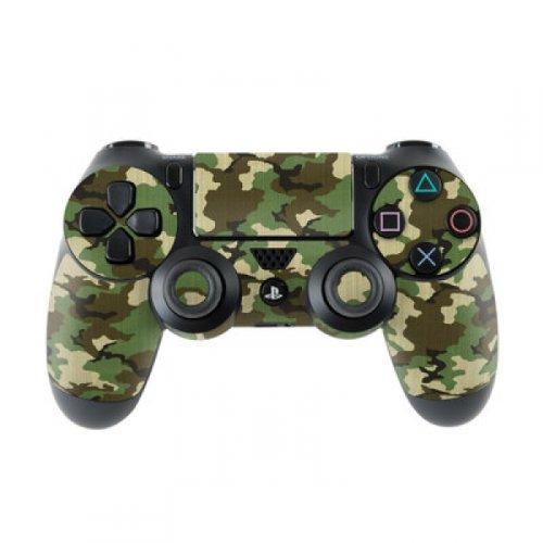 Preisvergleich Produktbild Skins4u Sony Playstation 4 Skin PS4 Controller Skins Design Sticker Aufkleber styling Set auch für Slim & Pro - Woodland Camo
