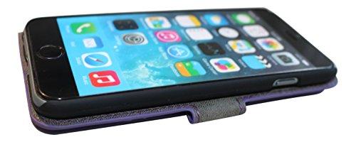 Handy-Hülle für Apple iPhone 4 5 6 Plus S C G, in vielen Farben, Schutz-tasche mit Magnet, Kartenfach und Standfunktion, Handy-Tasche aus edlem Kunst-Leder, professionell gefertigt - Dealbude24 Braun