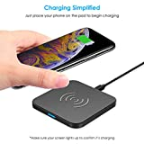 CHOETECH Wireless Charger Qi Certified Wireless Charging Pad Compatible with Apple iPhone Xs/ Xs Max/ Xr,iPhone X/ iPhone 8/ 8 Plus,Samsung Galaxy Note 9/S9/S9+/S8/S8+/S7/Note 8 and More