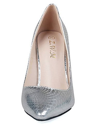 GS~LY Da donna-Tacchi-Casual-Tacchi-A stiletto-PU (Poliuretano)-Argento / Dorato golden-us7.5 / eu38 / uk5.5 / cn38