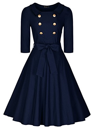 miusol-womens-vintage-shirt-50s-style-front-double-metal-buttons-a-line-skirts-lapel-collar-belted-s