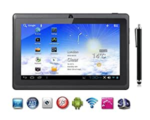 """7"""" inch Capacitive Touch Screen Allwinner A13 1.0GHz CPU (up to 1.5GHz maximumly)Processor Android 4.0.3 (Latest Ice Cream Sandwich OS) Tablet PC 4GB HDD 512MB WiFi MID Epad Flash Player 11.1 - Compatible with BBC iPlayer / Youtube / Facebook (Black) by Dx-mall"""