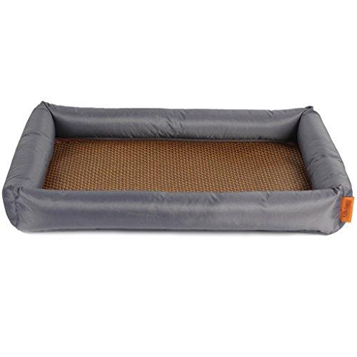 TangMengYun Rechteckige Katze Hund Zwinger Sommer Abnehmbare Und Waschbare Matratze Wasserdichte Matte Grau ( Größe : XXL ) (Welpen Kisten Für Kleine Hunde)