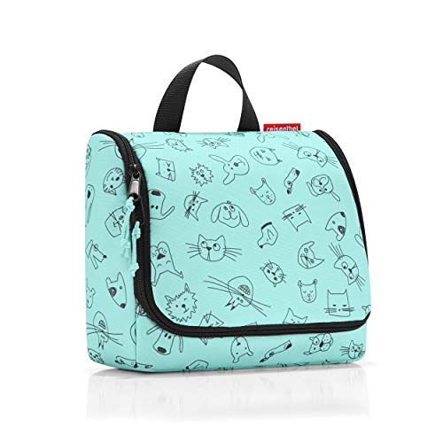 reisenthel toiletbag kids cats and dogs mint Maße: 23 x 20 x 10 cm / Maße: 23 x 55 x 8,5 cm expanded / Volumen: 3 l