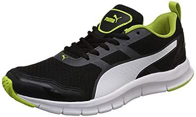 Puma Men's Black-Limepunch White Sneakers-6 UK/India (39 EU) (4059507918390)