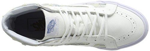Vans Sk8-hi Slim, Sneakers Hautes mixte adulte Blanc (Frayed Native/True White)
