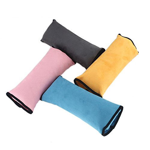 Preisvergleich Produktbild EinsAcc Auto Sicherheits Sicherheitsgurt Schulterpolster Schulterkissen Autositze Gurtpolster (grau)