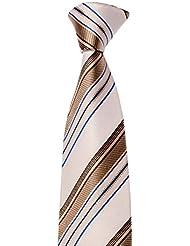 Krawatte von Mailando, mit streifen, sehr elegant, schwarz, gold, blau, rot,...