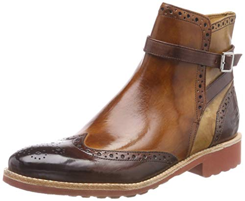 Melvin & Hamilton Damen Amelie 11 Chelsea Boots, Mehrfarbig (Crust (1) / Cognac (2) / Sand (3) / Ash (4) / Strap Mogano/Rook D Red), 40 EU - Ash Damen Schuhe Stiefel