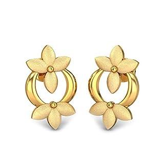 Candere By Kalyan Jewellers 22k (916) Yellow Gold Skylar Stud Earrings