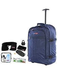 CABIN GO cod. MAX 55 trolley - Zaino bagaglio a mano/cabina da viaggio leggero. - 55 x 40 x 20 cm, 44 litri - con ruote. Approvato volo IATA/EasyJet/Ryanair