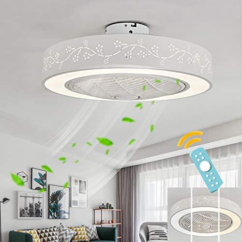 WYDM Ventiladores de Techo con lampara, Regulable Ajustable Control Remoto Ventilador de Techo Control...