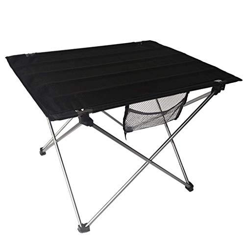 NJ Table Pliante- Tableau Se Pliant d'alliage d'aluminium léger, Tableau de Barbecue portatif extérieur de Tableau de Pique-Nique (Couleur : Noir, Taille : 75x55x53cm)