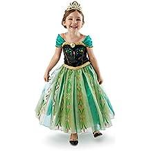 Frozen Deluxe Anna Elsa disfraz infantil de Enchanting de equitación para niña e instrucciones para hacer vestidos