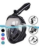 X-Lounger Schnorchelmaske Tauchmaske Vollmaske Innovative Faltbare Schnorchelausrüstung mit Abnehmbarer GoPro-Halterung und Earplugs 180°Sichtfeld Anti-Fog für Erwachsene und Kinder (schwarz M)