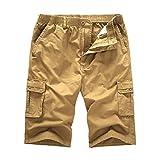 URIBAKY Pantalon Coupe-Vent Cargo pour Hommes, Couleur Pure, extérieur, Poche Plage, Travail