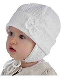 Baby Taufe Mütze Mädchen Elfenbein / Creme Gr: 38 40 42 44 46