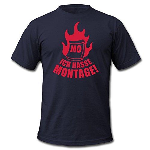Ich hasse Montage Sprüche Männer T-Shirt von American Apparel von Spreadshirt®, XL, Navy