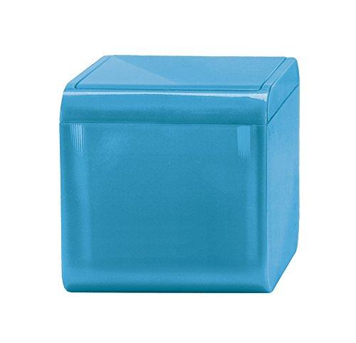 Kleine Wolke Mini Bobby/Volumen 1,5 Liter/Farbe Türkis Kosmetikeimer, Plastik, 12.5x12.5x12.5 cm