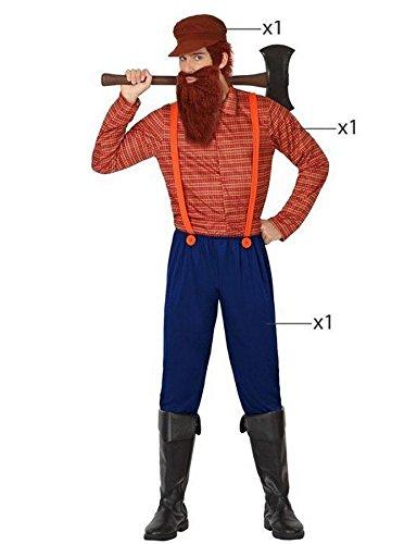 Holzfäller Kostüme Erwachsene (Atosa 26306 - Holzfäller, Herrenkostüm, Größe 50/52,)
