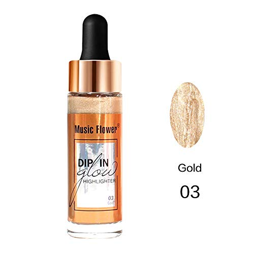 Surligneur Maquillage Concealer Shimmer Naturel Highlight Crème Liquide Contour Face Glow Bb Crème Beauty (3#)