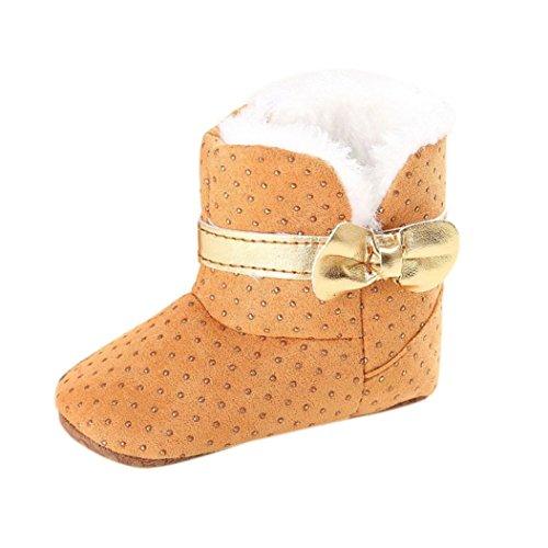 kingko® Bébé Tout Infant filles Bottes de neige molle Sole chaussures prewalker Berceau (11, blanc) kaki