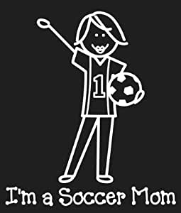 Me And My Peeps Family Decals 4.75''X6.50''-I'm A Soccer Mom
